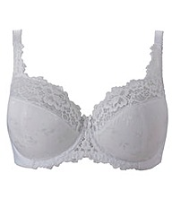 Wired Full Cup Comfort White Ruby Bra
