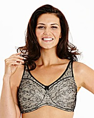 2Pack Full Cup Non Wired Black White Bra
