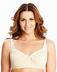 2 Pack Non Wired White Natural Bras