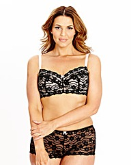 2Pack NonWired Daisy Lace Black/Rasp Bra