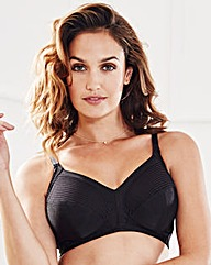 2 Pack Minimiser NonWired BlackWhite Bra