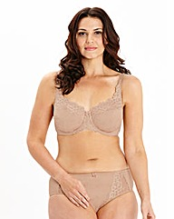 Ruby Minimiser Wired Natural Bra