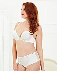 Plunge Wired Ivory Bra