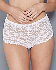 Daisy Lace White Shorts
