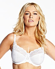 Ruby Minimiser Wired White Bra