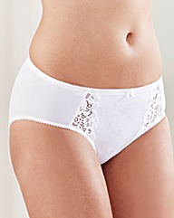 Ruby Midi White Briefs