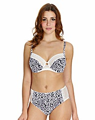 Full Cup Wired Animal Print Bra