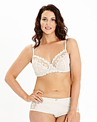 Ava Full Cup Wired Embroidered Cream Bra