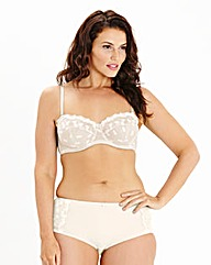 Ava Multiway Wired Embroidered Cream Bra