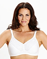 2 Pack Full Cup Non-Wired White Bras