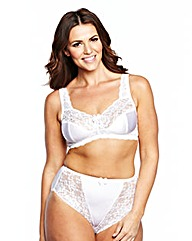 2 Pack Full Cup NonWired Black/White Bra