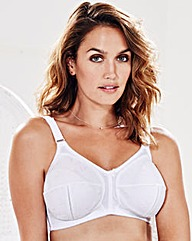 Dotty Jacquard NonWired White Bra