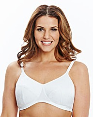 2 Pack Non Wired Padded White Bras