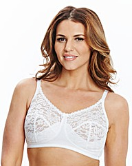 2 Pack Non Wired White Bras
