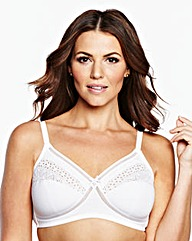 2 Pack Full Cup Non Wired White Bras