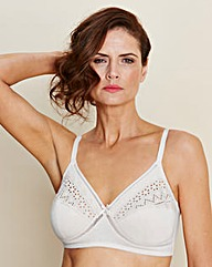 White Two Pack Criss Cross NonWired Bras