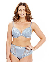 2 Pack Plunge Wired Peach/Blue Bra