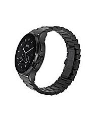 Luna-Brushed Black/Black IP Bracelet