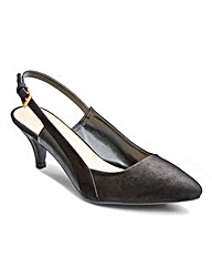 The Shoe Tailor Slingback Shoes D Fit