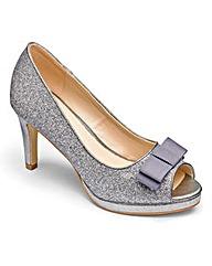 Heavenly Soles Glitter Shoes EEE Fit