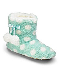 Heavenly Soles Print Fluff Slipper Boots