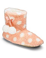 Heavenly Soles Print Fluff Slipper Boots