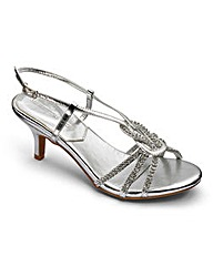 Heavenly Soles Diamante Sandals EEE Fit