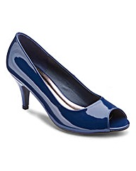 Heavenly Soles Peep Toe Shoes D Fit
