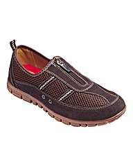 Cushion Walk Zip Front Shoes E Fit