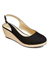 Footflex Slingback Wedge Shoes EEE Fit