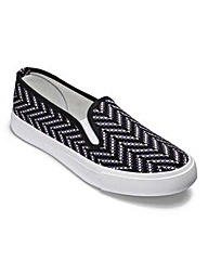 Dunlop Canvas Slip On Shoes EEE Fit