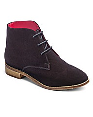 Brevitt Suede Lace Up Boots EEE Fit