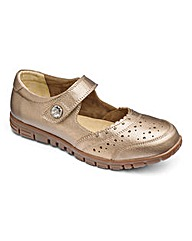Cushion Walk Leather Bar Shoes D Fit