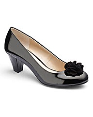 Lotus Flower Trim Court Shoes EEE Fit