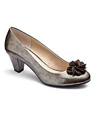 Lotus Flower Trim Court Shoes E Fit