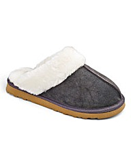 Lotus Warmlined Mule Slippers EEE Fit