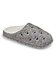Heavenly Soles Felt Embroidered Mules