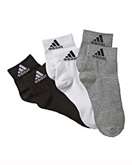 adidas 3 Pack of Ankle Socks