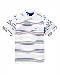 Mitre Striped Polo Shirt Reg