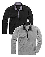 JCM Pack of 2 1/4 Zip Fleece