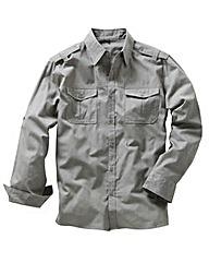 Jacamo Long Sleeve Military Shirt Long