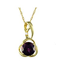 9ct Gold Rhodalite and Diamond Pendant