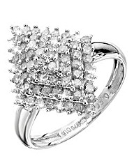 9 Carat White Gold 1ct Diamond Ring