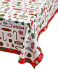 Christmas Treats Table Cloth 180x230cm