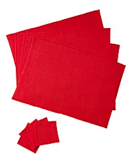 Plain Dye S4 Ribbed Placemats & Coasters