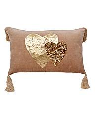 Ismay Embellished Cushion with Tassels