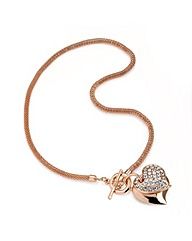 Rose Gold Colour Crystal Chain Pendant