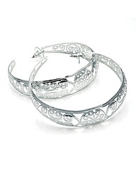 Shiny Silver Colour Hoop Earring