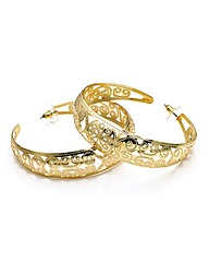 Shiny Gold Colour Hoop Earring