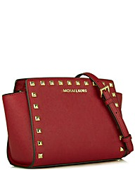 Michael Kors SS Mess Burgundy Bag